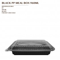 PRE-ORDER BLACK PP MEAL BOX 960ML 150SET/CTN