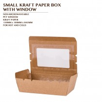 SMALL KRAFT PAPER BOX  WITH WINDOW 200PCS / CTN
