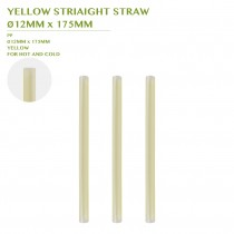PRE-ORDER YELLOW STRIAIGHT STRAW  Ø12MM x 175MM