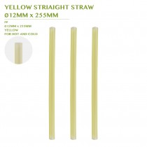 PRE-ORDER YELLOW STRIAIGHT STRAW  Ø12MM x 255MM