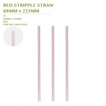 PRE-ORDER RED STRIPPLE STRAW  Ø8MM x 225MM
