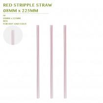 PRE-ORDER RED STRIPPLE STRAW  Ø8MM x 225MM