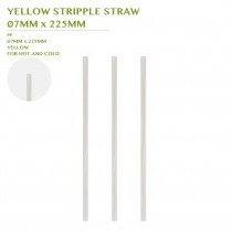 PRE-ORDER YELLOW STRIPPLE STRAW  Ø7MM x 225MM