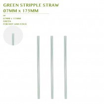 PRE-ORDER GREEN STRIPPLE STRAW  Ø7MM x 175MM