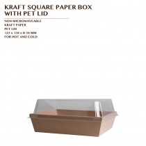 KRAFT SQUARE PAPER BOX WITH PET LID 800 SET/CTN
