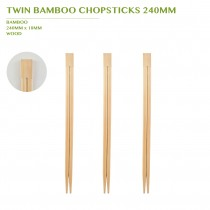 TWIN BAMBOO  CHOPSTICK 240MM 3000PCS/BOX