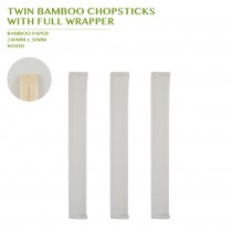 TWIN CHOPSTICK  WITH FULL WRAPPER 210MM 3000PCS/BOX
