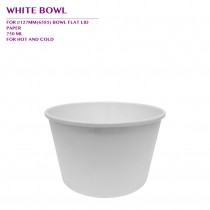 PRE-ORDER WHITE BOWL 750ML 600PCS/CTN