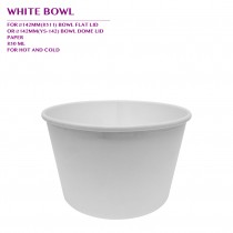 PRE-ORDER WHITE BOWL 850ML 600PCS/CTN