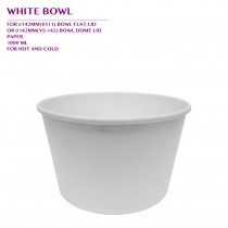 PRE-ORDER WHITE BOWL 1000ML 600PCS/CTN