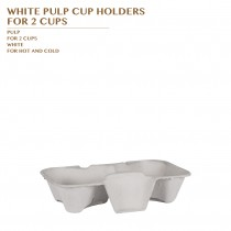 PRE-ORDER WHITE PULP CUP HOLDERS  FOR 2 CUPS