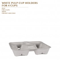 PRE-ORDER WHITE PULP CUP HOLDERS  FOR 4 CUPS