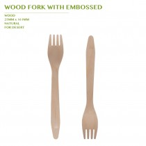 PRE-ORDER WOOD FORK WITH EMBOSSED