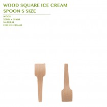 PRE-ORDER WOOD SQUARE ICE CREAM  SPOON S SIZE