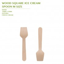 PRE-ORDER WOOD SQUARE ICE CREAM  SPOON M SIZE