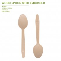 PRE-ORDER WOOD SPOON WITH EMBOSSED
