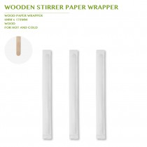 WOODEN STIRRER PAPER WRAPPER 178MM 10000PCS/CTN