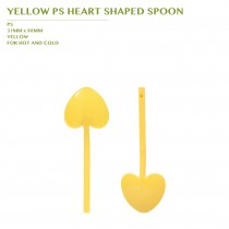 PRE-ORDER YELLOW PS HEART SHAPED SPOON 3600PCS/CTN